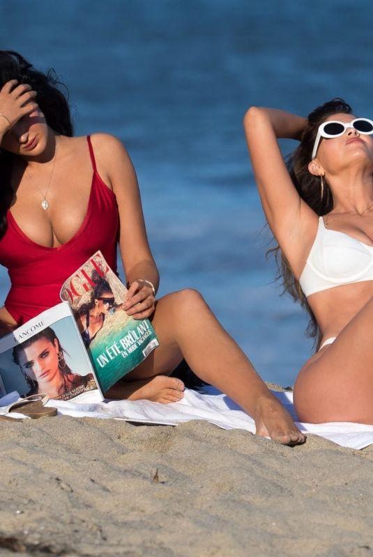 NATALIE HALCRO and OLIVIA PIERSON in Bikinis at a Beach in Malibu 07/03/2018