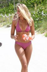 NATALIE ROSER in Bikini at a Beach in Miami 07/16/2018