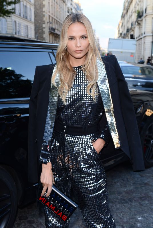 NATASHA POLY Arrives at Vogue Dinner Party in Paris 07/03/2018