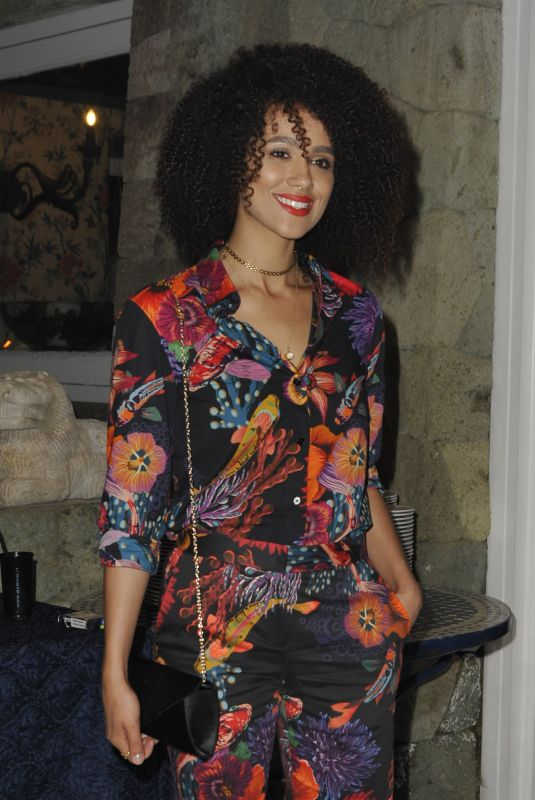 NATHALIE EMMANUELL at a Gala Dinner at Ischia Globalfest in Ischia 07/20/2018