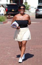 NIA LONG at a Parking Lot in Malibu 07/16/2018