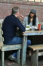 NIA LONG Out for Lunch at Croft Alley in Los Angeles 06/30/2018