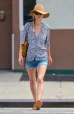 NICKY HILTON in Denim Shorts Out in New York 07/17/2018