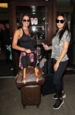 NIKKI and BRIE BELLA at LAX Airport in Los Angeles 07/26/2018