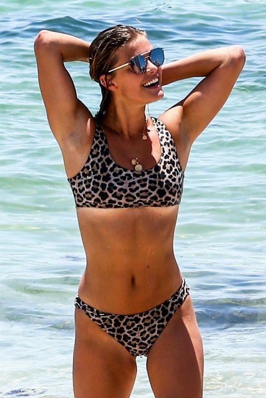 NINA AGDAL in Bikini at a Beach in Miami 07/13/2018