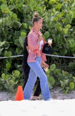 NINA AGDAL in Jeand on the Beach in Miami 07/12/2018
