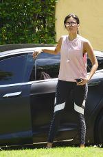 NINA DOBREV Arrives at Her Home in Los Angeles 07/10/2018