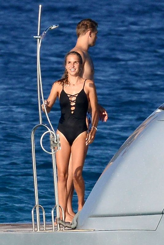 NINA NEUER in Swimsuit on Holiday in Formentera 07/16/2018