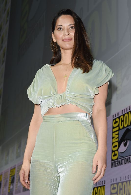 OLIVIA MUNN at The Predator Panel at Comic-con in San Diego 07/19/2018