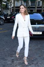 OLIVIA PALERMO Arrives at Vogue Dinner Party in Paris 07/03/2018