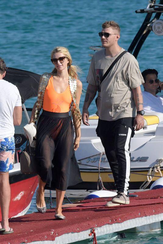 PARIS HILTON on Vacation in Mykonos, 07/10/2018