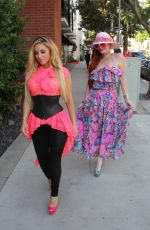 PHOEBE PRICE and MARCELA IGLESIAS Out for Lunch in Beverly Hills 07/27/2018