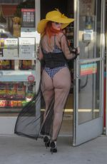 PHOEBE PRICE at a Gas Station in Beverly Hills 07/07/2018