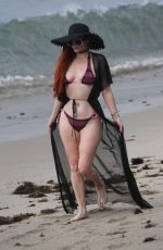 PHOEBE PRICE in Bikini on the Beach in Malibu 07/18/2018