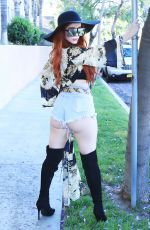 PHOEBE PRICE in Cutoff Denim Out in Los Angeles 07/17/2018
