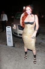 PHOEBE PRICE Night Out in Los Angeles 07/12/2018