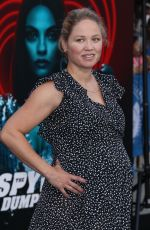 Pregnant ERIKA CHRISTENSEN at The Spy Who Dumped Me Premiere in Los Angeles 07/25/2018