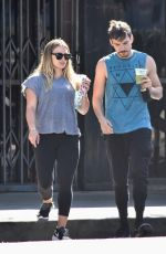 Pregnant HILARY DUFF and Matthew Koma Out in Los Angeles 07/23/2018