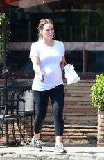 Pregnant HILARY DUFF Leaves a Bakery in Los Angeles 07/27/2018