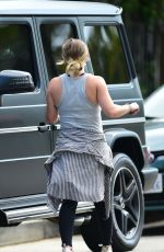 Pregnant HILARY DUFF Leaves a Gym in Los Angeles 07/07/2018