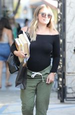 Pregnant HILARY DUFF Leaves Nine Zero One Salon in Hollywood 07/26/2018