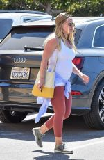 Pregnant HILARY DUFF Out and About in Los Angeles 07/06/2018