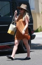 Pregnant HILARY DUFF Out for Lunch in Beverly Hills 07/19/2018