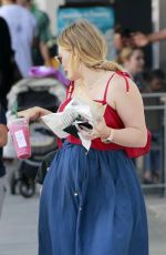Pregnant HILARY DUFF Out in Beverly Hills 07/19/2018
