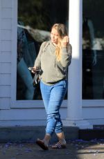 Pregnant HILARY DUFF Out in Los Angeles 07/01/2018