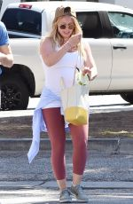 Pregnant HILARY DUFF Out in Los Angeles 07/08/2018