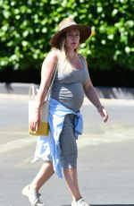 Pregnant HILARY DUFF Out in Los Angeles 07/22/2018