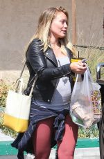 Pregnant HILARY DUFF Out in Studio City 07/03/2018