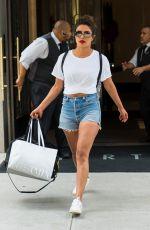 PRIYANKA CHOPRA in Denim Shorts Out in New York 07/04/2018