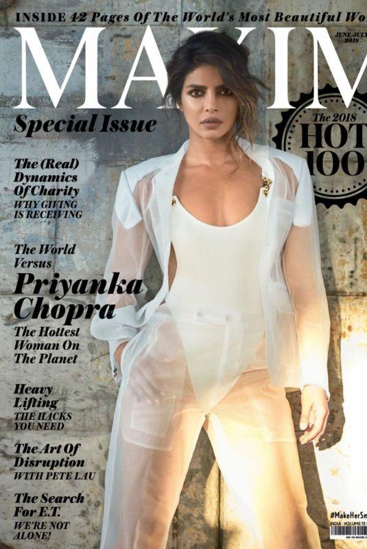 PRIYANKA CHOPRA in Maxim Magazine, India June/July 2018