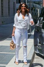 PRIYANKA CHOPRA in Ripped White Jeans in New York 07/05/2018