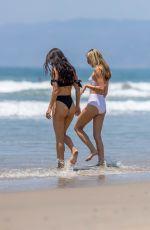 RACHEL MCCORD and EVA PEPAJ in Bikinis on the Beach in Santa Monica 07/07/2018