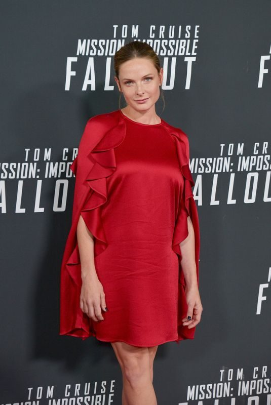 REBECCA FERGUSON at Mission: Impossible – Fallout Premiere in Wahington 07/22/2018