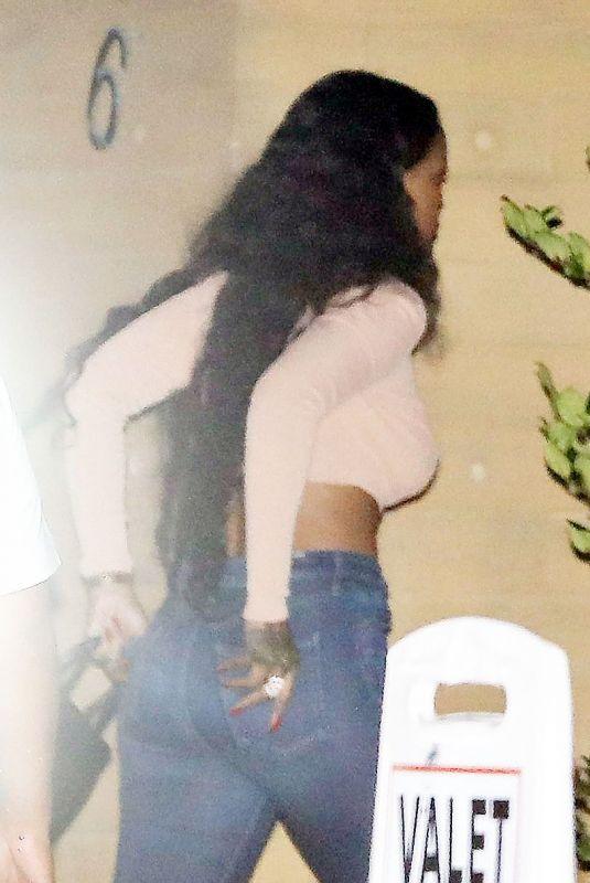 RIHANNA at Nobu in Malibu 07/11/2018