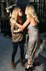 RITA ORA and LOTTIE MOSS Leaves Annabelle