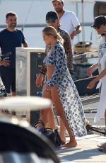 RITA ORA in Bikini at a Boat in Barcelona 07/19/2018