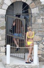 RITA ORA in Yellow Bikini in French Riviera 07/03/2018