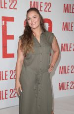 RONDA ROUSEY at Mile 22 Photocall in Los Angeles 07/28/2018