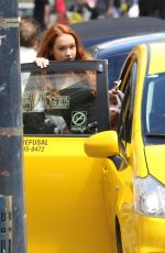 SADIE STANLEY Hops in a Taxi in Vancouver 07/01/2018