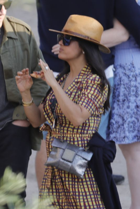 SALMA HAYEK Out and About in Barcelona 06/29/2018