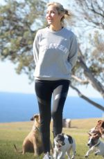 SAMANTHA X Out with Her Dogs in Bondi 07/22/2018