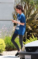 SARAH HYLAND Leaves Set of The Wedding Year in Los Angeles 07/02/2018