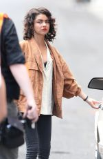 SARAH HYLAND on the Set of The Wedding Year in Los Angeles 07/09/2018