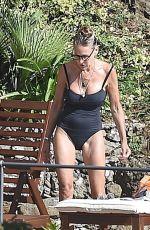 SARAH JESSICA PARKER in Swimsuit at a Beach in Portofino 07/17/2018