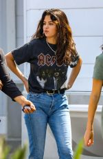 SELENA GOMEZ Shopping at a Mall in Santa Monica 07/29/2018