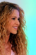 SHAKIRA at a Press Conference in Barranquilla 07/19/2018